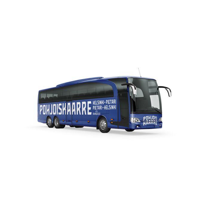 Bussi 21.6.2021 Tampere-Lahti-Kouvola-Pietari Belgia-peliin ja takaisin